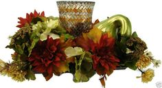 http://www.ebay.com/itm/Festive-Fall-Harvest-Holiday-Floral-Table-Centerpiece-Candle-Holder-Decoration-/301768435516?hash=item4642cce73c