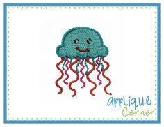 Jellyfish Filled Mini Embroidery Design