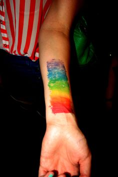 If ever I were to get a rainbow tattoo...it would have the vibe of this one! Beautiful