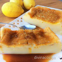 Esta quesada de limón se prepara con una receta parecida a la tradicional quesada pasiega, pero con yogur y zumo de limón para dar sabor fresco y frutal.⭐⭐