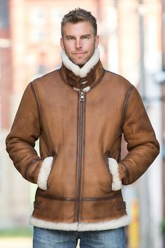 Wear the best bomber in this updated design of the classic B-3 aviator jacket with Spanish Merino shearling and smooth antiqued suede. Free shipping   returns.