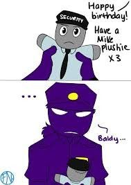 This was based off a tiny RP I did with TheElvenDoodler on my status about Vincent's birthday XD Also. I want a Mikey plushie too ; Jeremy Fitzgerald, Rebornica Fnaf, Fnaf Night Guards, Freddy 's, William Afton, Bad Memes, Fnaf Drawings, Screwed Up, Five Nights At Freddy's