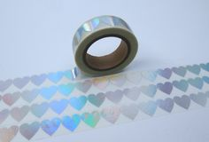 Tape FOIL Silber Herzen transparent von washitapes auf DaWanda.com