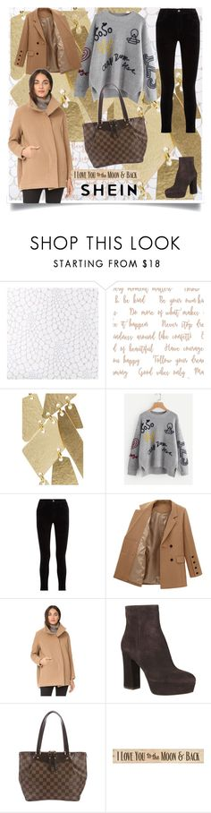 """shein"" by bellamonica ❤ liked on Polyvore featuring Annie Costello Brown, J Brand, Zero + Maria Cornejo, Gianvito Rossi, Louis Vuitton and DutchCrafters"