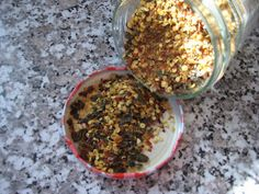 Homemade dried pepper flakes