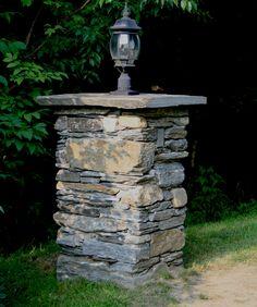 Light Post On Top Not This One But Something Similar Brick Columnsstone Pillarsoutdoor