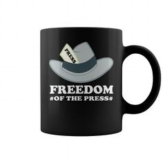 Freedom Of The Press Coffee Mug LIMITED TIME ONLY. ORDER NOW if you like, Item Not Sold Anywhere Else. Amazing for you or gift for your family members and your friends. Thank you! #freedom #shirts