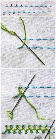 Basic embroidery stitches. Handwork is an important part of living--to create something useful or beautiful is a joy.