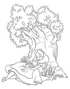 Alice i Eventyrland Tegninger til Farvelægning 3