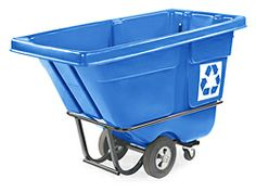 Rubbermaid® Tilt Truck Recycling Container, 1/2 Cubic Yard H-1862 - Uline