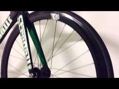 Stradalli TRK-17 Full Carbon Track Bike Fixie Complete Bicycle with Fixed Aero Track Wheel set.