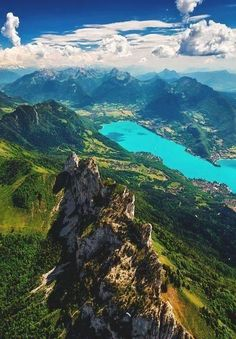 Haute Savoie, France. One day I'm going to pick a spot on my Take Me Away board and move there. This one is in the running. :)