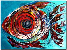 Tiny Blue Pill Modern Abstract Fish Art Artwork Paintings J Vincent Scarpace Fish Artwork, Artwork Paintings, Modern Paintings, Waste Art, Watercolor Fish, Underwater Art, Alcohol Ink Painting, Art Themes, Oil Painting Abstract