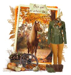 """""""Once Upon an Autumn Day"""" by chasity-whittington ❤ liked on Polyvore featuring Franklin, Second, Roberto Cavalli, OKA, Topshop and Nine West"""