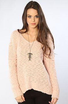 The Shaggy Bear Songbird Pullover in Ballet by Free People  LOVE THIS!!!! LOOKS BETTER ON PLANET BLUE WITH SEXY LITTLE SHORTS, BUT WHO THE HELL WEARS SHORTS N SWEATERS N MISSOURI :(