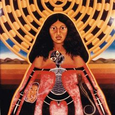 image from Robyn Kahukiwa, a favourite painter of mine. In Maori mythos, Ranginui (the sky father) Polynesian People, New Zealand Art, Nz Art, Esoteric Art, Maori Art, Castle In The Sky, Cultural Identity, Indigenous Art, Fantasy