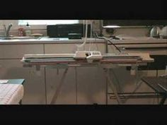 Machine Knitting Brother Garter Carriage Demo (Part 2 of 2)