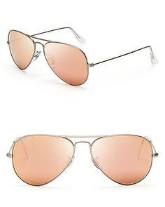 e3a540180cdd9 Ray-Ban Mirror Aviator Sunglasses
