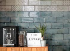 We hope you love these green brick tiles as much as we do. They are perfect for green bathroom tiles or a splash of colour is a stylish kitchen. Visit Direct Tile Warehouse for the best tiles, free samples and the lowest prices. Decorative Wall Tiles, Ceramic Wall Tiles, Porcelain Tiles, Modern Bathroom, Master Bathroom, Funky Bathroom, Kitchen Splashback Tiles, Splashback Ideas, Tile Warehouse