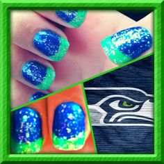 Seahawks mani! Soleil Nails in Puyallup!