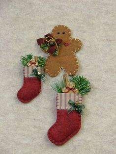 Countryside pattern - Gingerbread Ornament & Pins