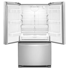 Whirlpool 20.0 cu. ft. French Door Refrigerator in Monochromatic Stainless Steel, Counter Depth-WRF540CWBM - The Home Depot