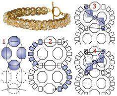 Free beaded Bauble bracelet pattern from Inmcrystal.com featured in recent Bead-Patterns.com