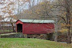 Red covered bridge near Pembroke, Va