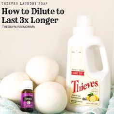 How to Dilute Thieves Laundry Soap to Last As Long – A Journey of Family, L… – Naturliche Seife Essential Oils For Laundry, Thieves Essential Oil, Bergamot Essential Oil, Essential Oil Uses, Young Living Essential Oils, Homemade Laundry Detergent, Yl Oils, Young Living Oils, Natural Cleaning Products