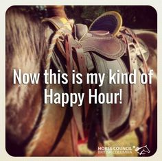 Happy Hour is with your horse!