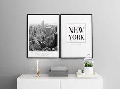 Inspirasjon til bildevegg med karter og byer   Plakater og posters
