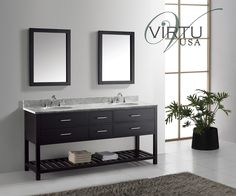 Buy the Virtu USA Espresso / Oval Sink Direct. Shop for the Virtu USA Espresso / Oval Sink Caroline Estate Bathroom Vanity Set - Includes Cabinet, Countertop, One Sink and Mirror and save. Double Sink Bathroom, Single Sink Bathroom Vanity, Master Bathroom, Espresso, Round Sink, Square Sink, Contemporary Bathroom Designs, Contemporary Style, Vanity Set With Mirror