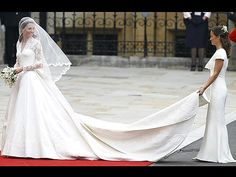 In contrast to Princess Diana's 25-foot train, Catherine's (carried by her lady-in-waiting, sister Pippa) was a relatively modest length of just over eight feet.