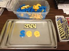Put magnetic letters and cookie sheets at your word work center!