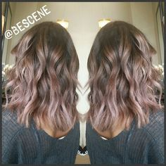 Loving this tone I mixed up using @Schwarzkopfusa! For the base I used 4-13, and for her ends I created a rosey taupe color using the #Schwarzkopf Metallics 8-29, 0-89 to bring out those pink tones. #bescene