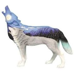 Each beautiful wolf figurine is hand-painted in a traditional Native American spiritual or tribal theme. They are simular to the popular Painted...