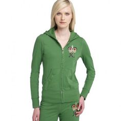 064b524d679e Juicy Couture Velour Hoodies Crown Green Tracksuits will let you feel more  relax and happy at weekend