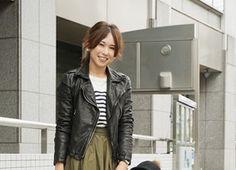 トレンドママコーデSNAP - mamagirl   ママガール Leather Jacket, Punk, Jackets, Style, Fashion, Studded Leather Jacket, Swag, Moda, Leather Jackets