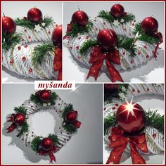 Výsledok vyhľadávania obrázkov pre dopyt navod na podkovu master klass Advent Wreath, Diy Wreath, All Things Christmas, Christmas Time, Holiday Crafts, Holiday Decor, Xmas Tree Decorations, Newspaper Crafts, Xmas Wreaths
