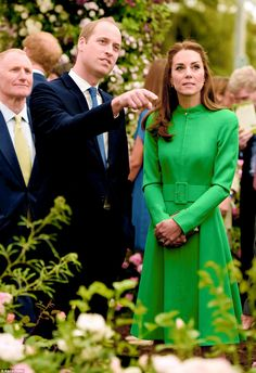 The Duke and Duchess of Cambridge attend Chelsea Flower Show press day at Royal Hospital Chelsea on May 23, 2016 in London, England.