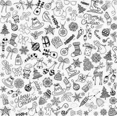 Vector, PNG Graphics **Big Set of Hand Sketched Rustic Decorative Doodle Christmas Icons, Objects, Design Elements. Christmas Doodles, Christmas Icons, Christmas Graphics, Christmas Art, Xmas, Christmas Patterns, Etsy Christmas, Doodle Png, Doodle Icon