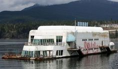 The McBarge, the first floating McDonalds, abandoned since 1991.