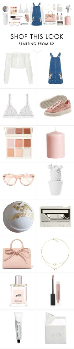 """Denim 2/3"" by seetheotheroceans ❤ liked on Polyvore featuring Elizabeth and James, Topshop, Eberjey, H&M, CASSETTE, Mansur Gavriel, philosophy, Burberry, L:A Bruket and BIA Cordon Bleu"
