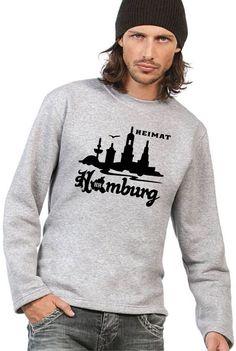 COOLER HAMBURG SKYLINE HEIMAT SWEATSHIRT/PULLOVER AUS LIEBE ZUR HAFENSTADT!
