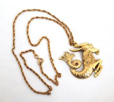 capricorn lyst pendant jewelry zoraida product normal none in metallic catherine