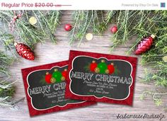 70% OFF SALE Christmas Invitation 5x7 by ScubamouseStudiosJr