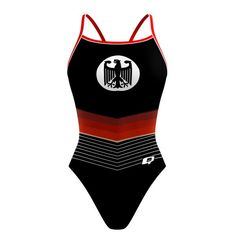 Germany Sunback Tank. Show your pride for Germany.#qswimwear