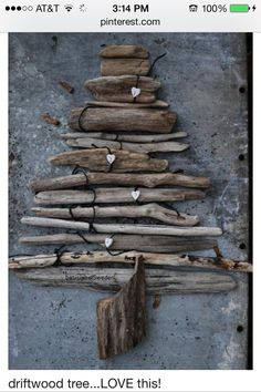 My husband is making this from driftwood.
