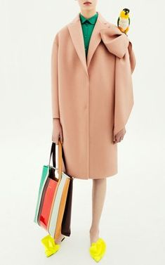 Straight Coat With Bow by Delpozo Pre-Fall 2018