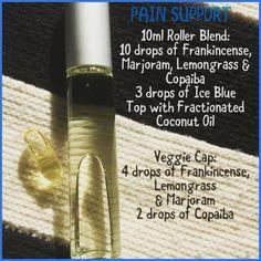 Pain relief in a roller. Marjoram Essential Oil, Essential Oils For Pain, Lemongrass Essential Oil, Frankincense Essential Oil, Essential Oil Diffuser Blends, Doterra Essential Oils, Doterra Blends, Pain Relief, Just In Case